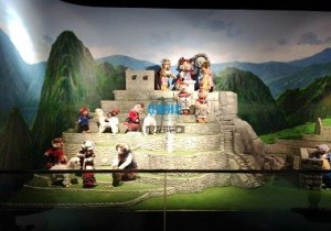 The scene model of Teddy Bear model city
